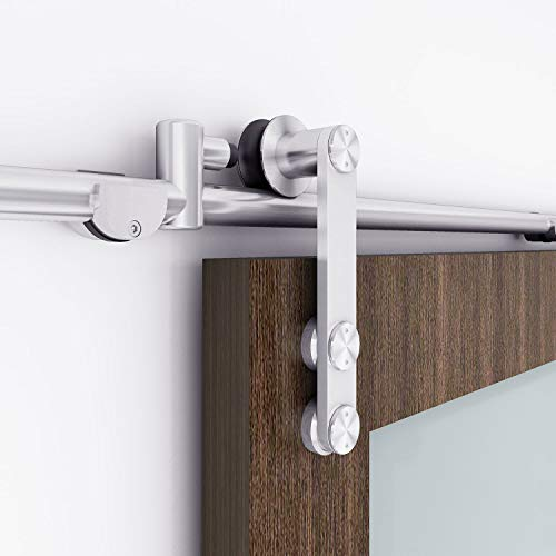 EaseLife 6 FT Stainless Steel Sliding Barn Door Hardware Track