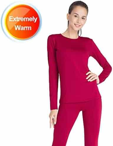 b1b83605b2 Thermal Underwear for Women Long Johns Set Fleece Lined Ultra Soft