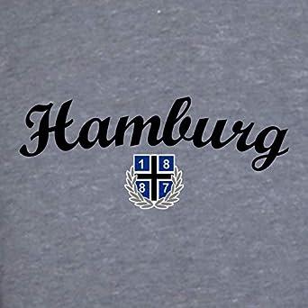 1887 Streetwear Hamburg Volkspark Kapuzensweater Hoody Hoodie New Hh Grau Meliert Bekleidung