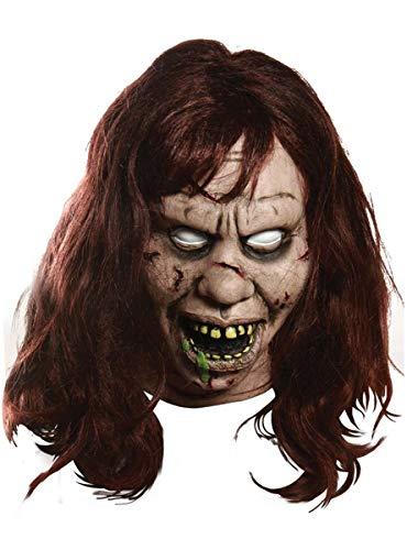 Exorcist Halloween Costumes (Morbid Enterprises The Exorcist Regan Mask, Tan, One)