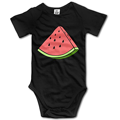 Baby Breath Babys Cute Fruit Watermelon Boy's/Girl's Bodysuit Outfits Black Size 18 (Carving Watermelon Halloween)