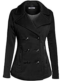 Women's Stylish and Warm Peacoat with Sherpa Lining