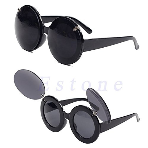 VIPASNAM-Trend Fashion Retro Lady Style Flip Up Round Shade Cool Cat Eye Sunglasses - Women Vuitton Shades Louis For