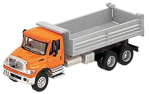 国際( R ) 76003-axle heavy-dutyダンプトラック–Assembled–-オレンジCab、シルバーダンプボディの商品画像