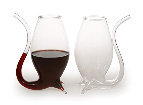 Port Wine Glasses by Agape Glassware: The Largest and Most Durable Hand-Blown Port Wine Sippers (Set of 2) Aperitif Set