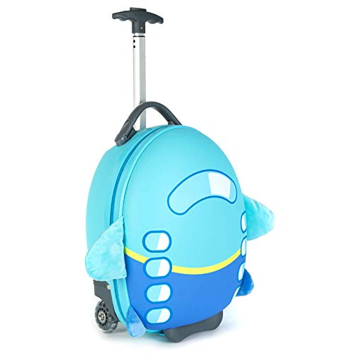 Boppi Tiny Trekker Kids Luggage Travel Suitcase Carry On Cabin Bag Holiday Pull Along Trolley Lighweight Wheeled Holdall…