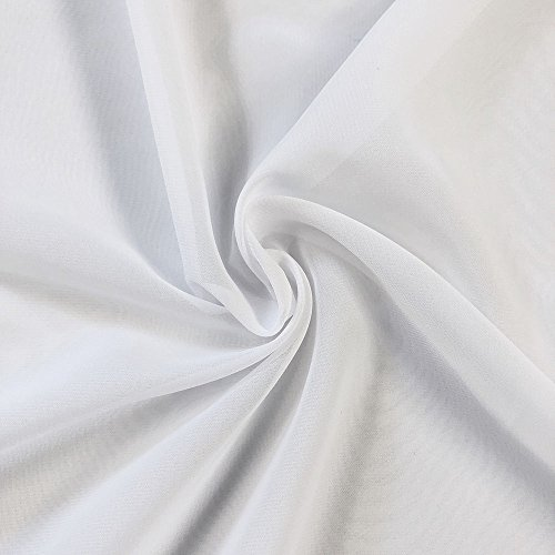 Solid Chiffon Fabric Polyester Dress Sheer 58'' Wide By the Yard All Colors (10 YARD, - Fabric Dress 10 Yard
