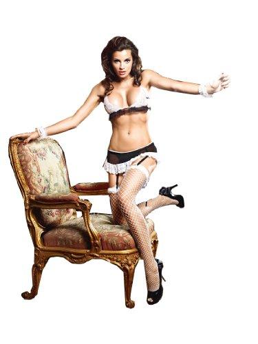 Baci Lingerie Women's Dreams Maid Bra, Panty, Garter Skir...