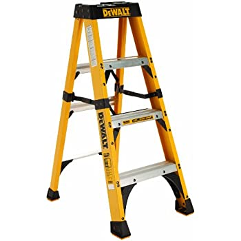 Amazon Com Dewalt Dxl3410 04 4 Feet Fiberglass Stepladder