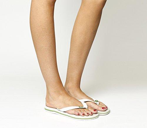 Sandales Havaianas Sandales Rubber femme Havaianas Rubber femme Havaianas White White Sandales qSxEYf