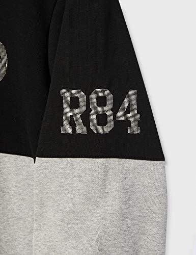Redskins Flask Poster Sweatshirt à Capuche, Heather Grey/Black, 2X Homme