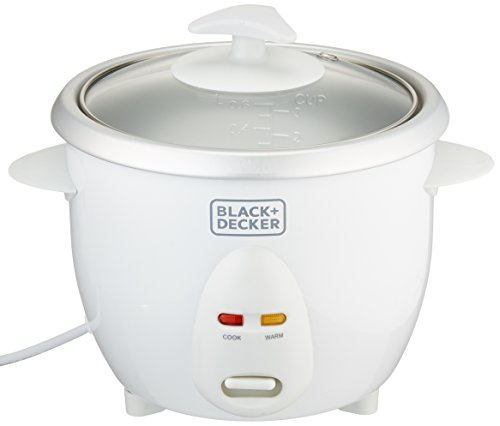 Black & Decker RC650 350W 0.6 L 2.5 Cup Rice Cooker (Non-USA Compliant), White