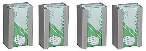Aluminum Glove Box - Single Aluminum Glove Box Holder/Dispenser (4-(Pack))