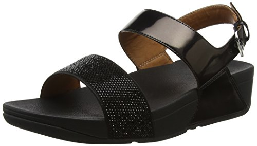 Fitflop Back Sandalias para Mujer Negro Abierta con Punta Ritzy 1 Strap Sandals Black TTwxAaqr