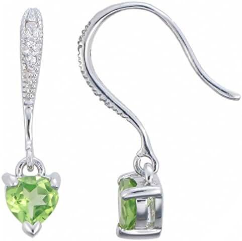 Sterling Silver Peridot Earrings (0.65 CT)