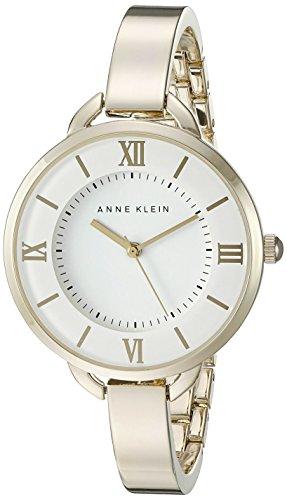 Anne Klein Women's AK/2268WTGB Gold-Tone Bangle Watch