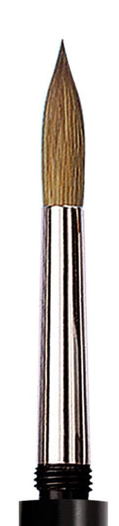da Vinci Travel Series 1503 Maestro Watercolor Brush Round Kolinsky Red Sable with Pocket Case Handle Size 12