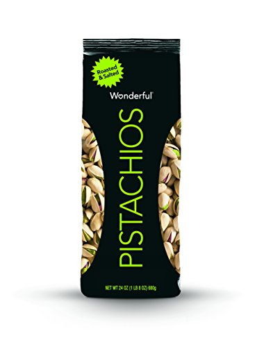 Wonderful Pistachios, Roasted and Salted, 24 Ounce Bags (Pack of 3)