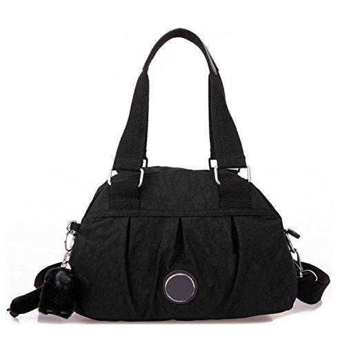 Frauen Jahrgang Leinwand Schulter Aktentasche Messenger Handtasche Side Die Universelle Einsatz Tasche ,E-30cm*14cm*20cm