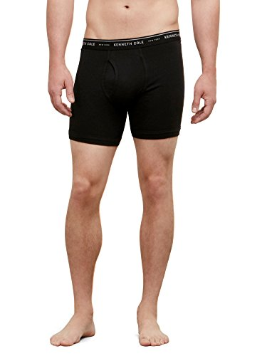 kenneth-cole-new-york-mens-superfine-cotton-boxer-brief-black-large-pack-of-2