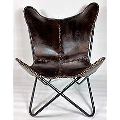 Farmhouse Accent Chairs Dark Brown Butterfly Chair – Genuine Leather – Gaucho Cowhides farmhouse accent chairs