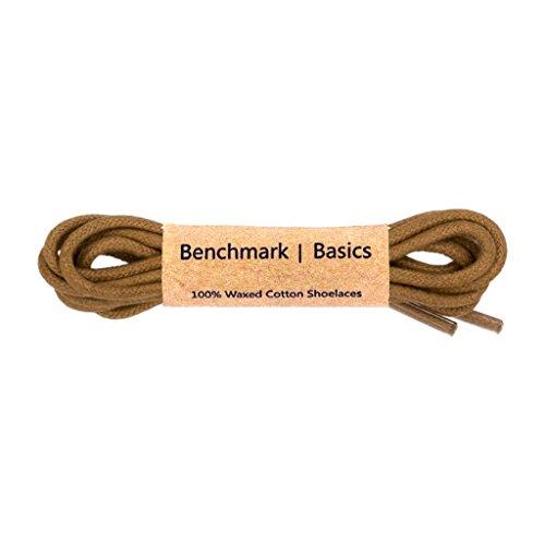 Benchmark Basics Walnut 36 Inch Round Waxed Cotton Shoelaces (2mm Width)