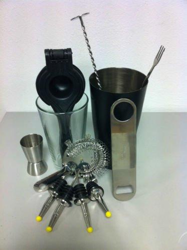 Radioactivebarman Barmanausrüstung-Boston Shaker, Stößel, Barlöffel, Barmanset Drink017