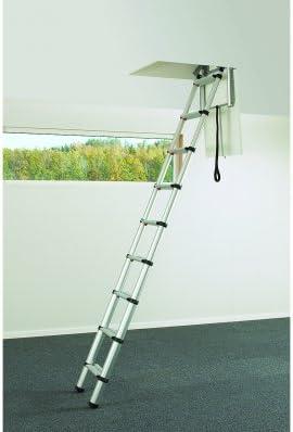 Escalera telescópica para tejado 2,4 – 6 M negro: Amazon.es: Bricolaje y herramientas