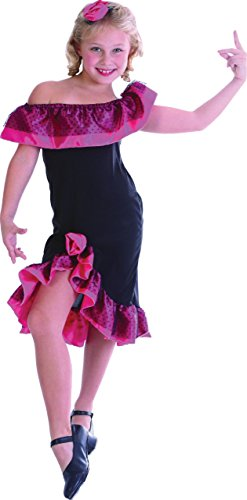 Childrens Flamenco Dancer Girl Fancy Dress Costume Spanish Outfit 7-10 Years (Girls Spanish Flamenco Dancer Costume)