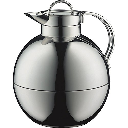 alfi Kugel Glass Vacuum Polished Thermal Carafe for Hot and Cold Beverages, 0.94 L, Stainless Steel by Alfi (Image #2)