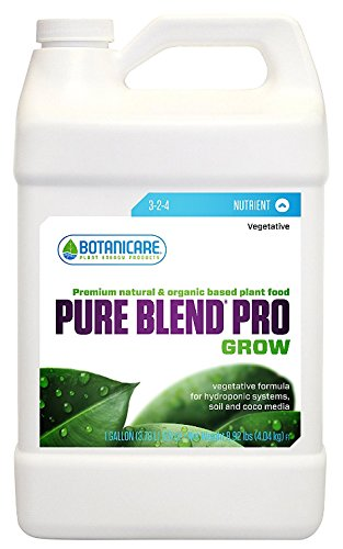 Botanicare Pure Blend PRO Grow Soil Nutrient 3-2-4 Formula, 1-Gallon (4-Pack)