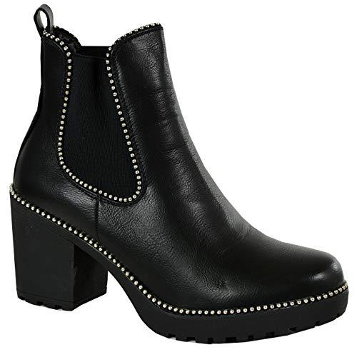 Fashion Noir Sandales Pu Compensées Cucu Femme Uqv0xAn0T