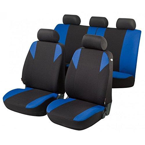 RMG R12V098 coprisedili compatibili per ULYSSE fodere auto R12 neri blu per sedili con airbag braciolo e sedili sdoppiabili