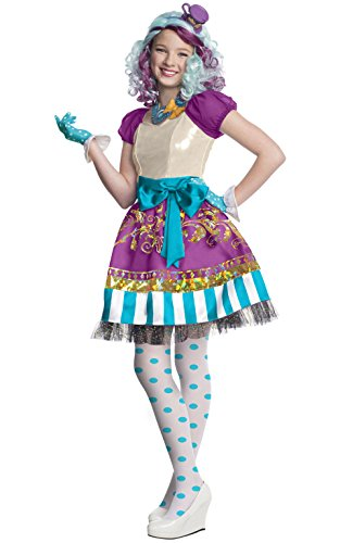 Madeline Hatter Costume (Rubies Ever After High Child Madeline Hatter Costume, Child)