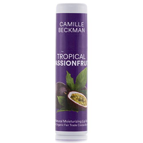 Camille Beckman All Natural Cocoa Butter Lip Balm, Tropical Passionfruit, .25 (0.25 Ounce Fruit)
