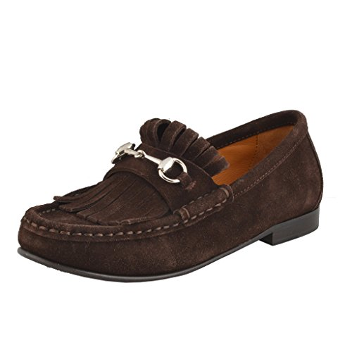 Gucci Children's Suede Leather Horsebit Loafers Shoes US 12 Gucci 29; by Gucci