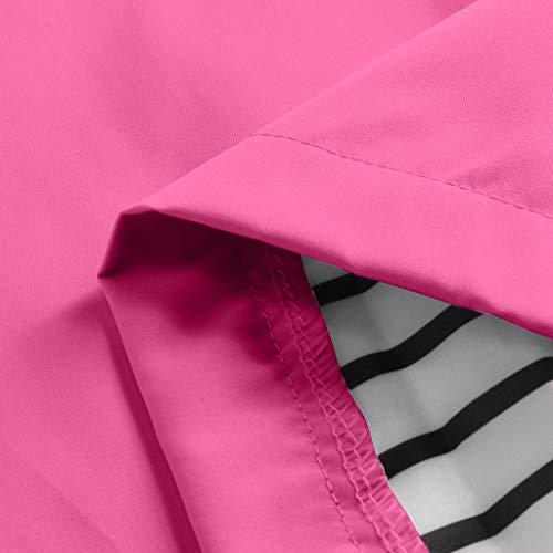 Keepmove Coat for Women Winter, Women Solid Rain Jacket Outdoor Plus Waterproof Hooded Raincoat Windproof