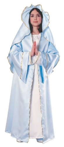 Girls Virgin Mary Costumes (Rubies Nativity Mary Child's Costume, One Color, Large)