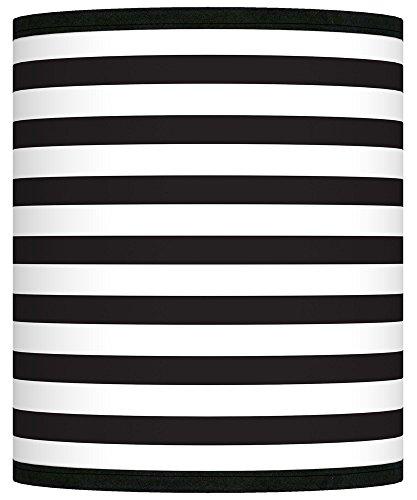 Black Horizontal Stripe Giclee Shade 10x10x12 (Spider) (Horizontal Stripe Giclee Shade)