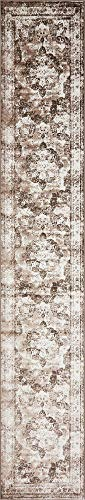 Unique Loom 3141340 Sofia Collection Area Rug, 3' x 20' Runner, Light Brown from Unique Loom