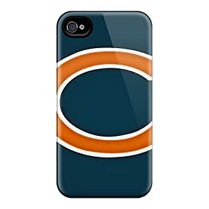 Scratch Protection Hard Phone Cases For Iphone 4/4s With Custom Beautiful Chicago Bears Pictures SherriFakhry