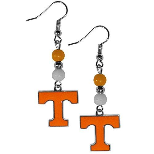 Siskiyou NCAA Tennessee Volunteers Fan Bead Dangle Earrings, Orange by Siskiyou