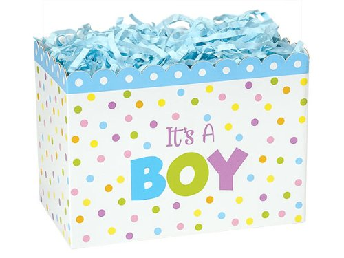 Special Occasion Baskets Boxes - large_It's A Boy Basket Boxes 10-1/4x6x7-1/2