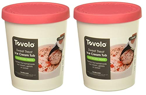 (Tovolo Sweet Treats 1 Quart Raspberry Tub, Set of 2)