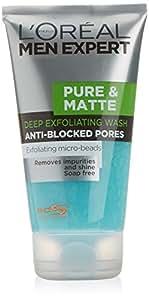 L'Oréal Paris Men Expert Pure & Matte Deep Exfoliating Gel Wash (150ml)