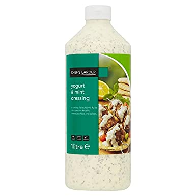 Despensa del Chef yogur y menta Dressing 1 Litro (Pack de 6 x 1ltr)