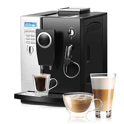COSTWAY Semi Espresso Machine, 20 Bar Pump, Built-In Milk Frother & Steamer