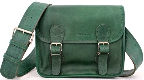 Vintage amp; green S Shoulder Bag MARIUS retro Satchel EMERAUDE Vintage PAUL Leather Satchel emerald 6qc47Pw7