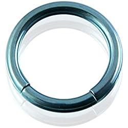 Curved Barbells 8MM - 14G(1.6MM) Light Blue Anodised Grade 23 Solid Titanium Segment Rings.