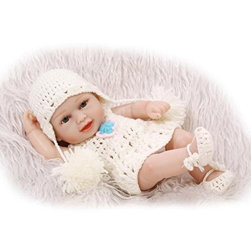 """iCradle 10"""" 26cm Mini Reborn Baby Dolls Full Body Silicone Real Lifelike Realistic Looking Mini Black American India Style Newborn Dolls Anatomically Correct Christmas Gift For Ages 3+   B07DHJ7ZGP"""